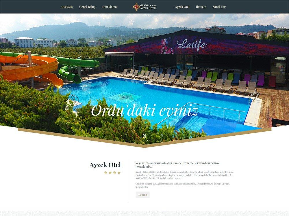 G.A Hotel Web Sitesi
