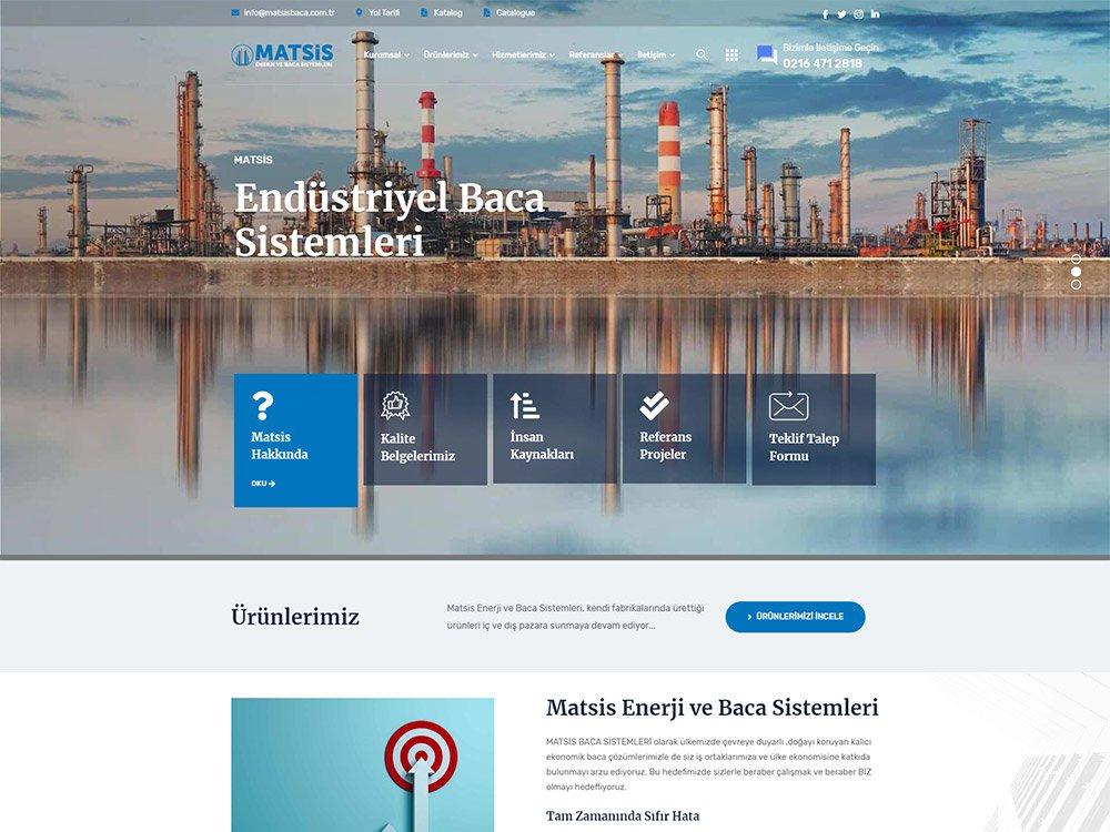 Matsis Enerji Web Sitesi