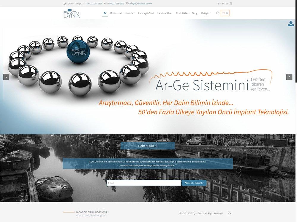 Dyna Dental Web Sitesi